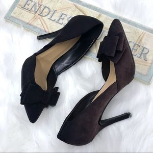 Just Fab Frances Brown & Black Ombre Heels 9